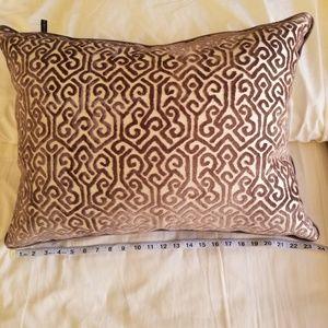 RODEO HOME Cut Velvet Grey/Cream Throw Pillow